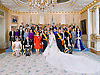 "Wedding of HRH the Hereditary Grand Duke Guillaume and Countess Stéphanie de Lannoy.Official Wedding photograph at the Grand-Ducal Palace, Luxembourg_20-10-2012.(From left front row); H.M. Queen Fabiola /H.R.H.Grand-Duke Jean /Grand-Duchess Maria Teresa / H.R.H. Crown Prince Guillaume / H.R.H. Princess Stéphanie Crown Grand-Duchess of Luxembourg / H.R.H Grand-Duke Henri / The Count de Lannoy / 2nd row - left to right : H.S.H. Reigning Prince of Liechtenstein / H.S.H Reigning Princess of Liechtenstein / H.M. Queen of Sweden / H.M. King of Norway / H.M. Queen of Norway / H.R.H. Prince Consort /   H.M. Queen of Denmark / H.M. Queen of the Netherlands / H.M. King of Belgians / H.M. Queen of Belgians / H.R.H. Princess Lalla Salma of Morocco / 3rd row - left to right : H.R.H Prince Hassan of Jordan / H.R.H. Princess Sarvath of Jordan / H.R.H. Princess of the Asturias / H.R.H. Prince of the Asturias / H.R.H. Crown Prince of Japan / H.R.H. the Countess of Wessex / H.R.H. Princess of Hanover / H.R.H Prince of Orange of the Netherlands / H.R.H. Princess Máxima of the Netherlands / 4th row - left to right : H.M. Queen Anne-Marie of the Hellenes / H.M. King Constantin of the Hellenes / H.R.H Crown Princess of Denmark / H.R.H Crown Prince of Denmark / H.R.H Duchess of Brabant / H.R.H Duke of Brabant / H.R.H Crown Princess of Norway / H.R.H Crown Prince of Norway / H.R.H Crown Princess of Sweden / H.R.H Prince Daniel of Sweden / H.E. Sheikh Nahyan Bin Mubarak Al Nahyan / 5th row - left to right :H.R.H Prince Radu of Romania / H.R.H Crown Princess of Romania / Princess Tessy / H.R.H. Prince Louis / H.R.H. Princess Alexandra / H.R.H. Prince Félix / H.R.H. Prince Sébastien / H.M. Queen Margarita of the Bulgarian / H.M. Simeon II of the Bulgarian.Mandatory credit photo: ©Grand-Ducal Court/Christian Aschman/NEWSPIX INTERNATIONAL..(Failure to credit will incur a surcharge of 100% of reproduction fees)..                **ALL FEES PAYABLE TO: ""NEWSPIX INTERNATIONAL""**..IMMEDIATE CONFIRMA"