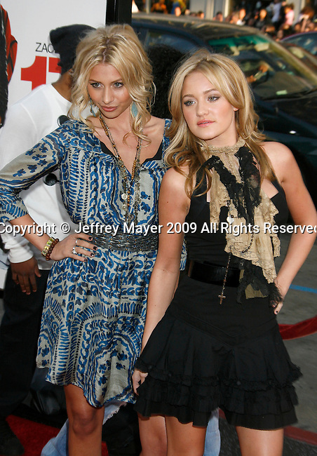 "HOLLYWOOD, CA. - April 14: Alyson Michalka and Amanda Michalka arrive at the premiere of Warner Bros. ""17 Again"" held at Grauman's Chinese Theatre on April 14, 2009 in Hollywood, California."
