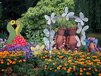 Childrens garden display. Oregon Garden, Silverton, Oregon