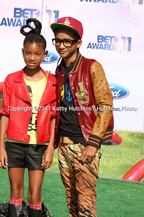 LOS ANGELES - JUN 26:  Willow Smith, Jaden Smith arriving at the 11th Annual BET Awards at Shrine Auditorium on June 26, 2004 in Los Angeles, CA