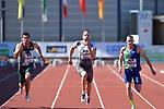 29.06.2019, Stadion Ratingen, Ratingen, DLV, Mehrkampfmeeting im Bild Kai Kazimirek ( LG Rhein-WIed ) beim 100m Lauf.<br />   <br /> <br /> Foto © nordphoto / Freund