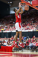 NWA Democrat-Gazette/BEN GOFF @NWABENGOFF<br /> Jeantal Cylla, Arkansas forward, dunks in the second half Saturday, Oct. 5, 2019, during the annual Arkansas Red-White Game at Barnhill Arena in Fayetteville.