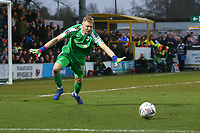 Aaron Ramsdale of AFC Wimbledon  during AFC Wimbledon vs Millwall, Emirates FA Cup Football at the Cherry Red Records Stadium on 16th February 2019