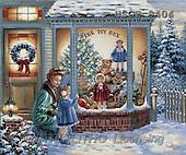 Dona Gelsinger, CHRISTMAS CHILDREN, paintings, woman, girl, dolls(USGE9404,#XK#)