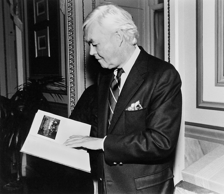 Sen. Daniel Patrick Moynihan, D-N.Y. March 14, 1984 (Photo by Andrea Mohin/CQ Roll Call)
