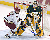Brock Bradford, Joe Fallon - The Boston College Eagles completed a shutout sweep of the University of Vermont Catamounts on Saturday, January 21, 2006 by defeating Vermont 3-0 at Conte Forum in Chestnut Hill, MA.