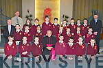 Pupils from Mr Corcorans class at Holy Family School, Balloonagh, Tralee, who were confirmed on Friday in St Brendans Church, Tralee, by the Bishop Bill Murphy. Front l-r: Aaron Roche, Shannon McInerney, Adam Costelloe, Bishop Murphy, Kyle OBrien, Brandon Tierney, Michael Slattery and Ruairi Switzer. 2nd l-r: Fr Patsy Lynch, Shane Kelliher, Dylan OSullivan, Diana Racova, Eoghan Murphy, Michael Cahill, Joshua Mahony and Tony Hallissey. Back l-r: Ed OBrien (principal), Rachel Dennehy, Adelina Nikolayeva, Gitas Marcisauskas, Lee Browne, Jordan Foley, Michael Flynn, Adam Lawlor, Ryan Murphy and Mr Corcoran (teacher).