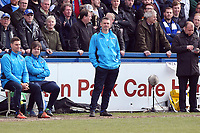 Maccelsfields manager John Askey during Macclesfield Town vs Leyton Orient, Vanarama National League Football at the Moss Rose Stadium on 14th April 2018