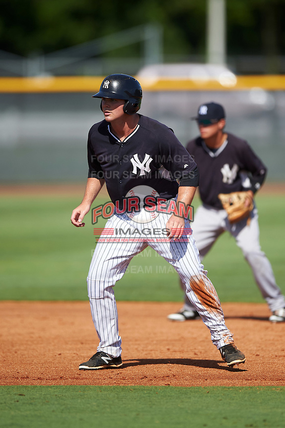 GCL Yankees East first baseman Ryan Krill (36) leads off second during a game against the GCL Yankees West on August 3, 2016 at the Yankees Complex in Tampa, Florida.  GCL Yankees East defeated GCL Yankees West 12-2.  (Mike Janes/Four Seam Images)