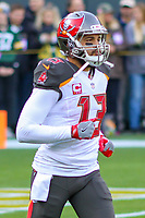 Tampa Bay Buccaneers wide receiver Mike Evans (13) during a National Football League game against the Green Bay Packers on December 2nd, 2017 at Lambeau Field in Green Bay, Wisconsin. Green Bay defeated Tampa Bay 26-20. (Brad Krause/Krause Sports Photography)