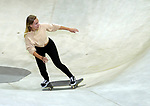 Danielle Angeli swoops on her skateboard at McPike Park in central Madison.
