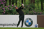 Luke Donald (ENG) tees off on the 10th tee during Day 3 of the BMW PGA Championship Championship at, Wentworth Club, Surrey, England, 28th May 2011. (Photo Eoin Clarke/Golffile 2011)