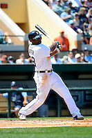 Detroit Tigers outfielder Torii Hunter #48 during a Spring Training game against the Tampa Bay Rays at Joker Marchant Stadium on March 29, 2013 in Lakeland, Florida.  (Mike Janes/Four Seam Images)