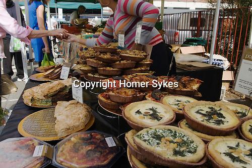 Farmers Market, Queens Park, north London. Uk 2007