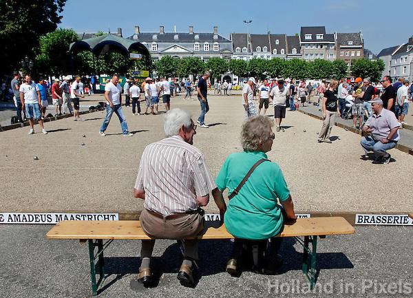 Jeu de Boules wedstrijd in Maastricht