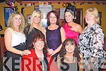 CHRISTMAS FUN: Enjoying great fun at the Munster bar, Tralee Women's Christmas Party on Thursday seated l-r: Kathleen O'Shea and Helen Power..Back l-r: Anita O'Shea, Yvonne Duggan, Linda O'Shea, Lucy O'Shea-Horan and Pat Turner..