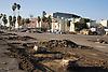 Bay Meadows Race Track Demolition stock photos