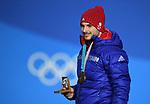 16/02/2018 - Medals ceremony - Olympic Plaza - Pyeongchang 2018 winter Olympics - Korea
