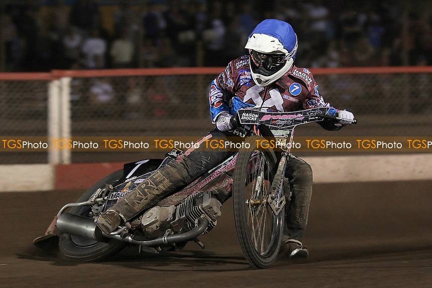 Heat 8: Rob Mear in action for Lakeside - Lakeside Hammers vs Eastbourne Eagles - Sky Sports Elite League Speedway at Arena Essex Raceway, Purfleet - 17/08/12 - MANDATORY CREDIT: Gavin Ellis/TGSPHOTO - Self billing applies where appropriate - 0845 094 6026 - contact@tgsphoto.co.uk - NO UNPAID USE.
