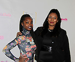 Maame Yaa Boafo & Jordan Tesfay at Color of Beauty Awards hosted by VH1's Gossip Table's Delaina Dixon and Maureen Tokeson-Martin on February 28, 2015 with red carpet, awards and cocktail reception at Ana Tzarev Gallery, New York City, New York.  (Photo by Sue Coflin/Max Photos)