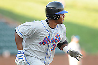 August 2, 2009: Outfielder Cesar Puello (38) of the Kingsport Mets, rookie Appalachian League affiliate of the New York Mets, in a game at Pioneer Park in Greeneville, Tenn. Photo by:  Tom Priddy/Four Seam Images