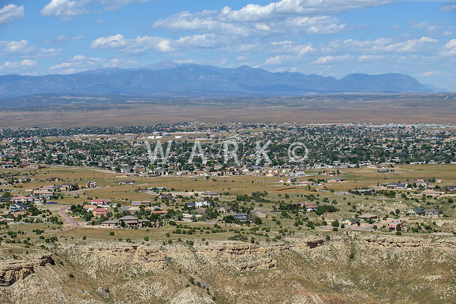 Pueblo West, Liberty Point.  Looking towards Pikes Peak.  Sept 1, 2015