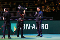 Rotterdam, The Netherlands, 18 Februari, 2018, ABNAMRO World Tennis Tournament, Ahoy, Anouncer Edward van Cuilenborg<br />