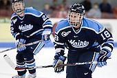 Keif Orsini (Maine - 18) - The Boston University Terriers defeated the University of Maine Black Bears 1-0 (OT) on Saturday, February 16, 2008 at Agganis Arena in Boston, Massachusetts.