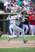 Cole Bauml (16) of the West Michigan Whitecaps follows through on his swing against the Dayton Dragons at Fifth Third Field on May 29, 2017 in Dayton, Ohio.  The Dragons defeated the Whitecaps 4-2.  (Brian Westerholt/Four Seam Images)