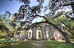Old Sheldon Church Ruins High Dynamic Range HDR in Beaufort South Carolina