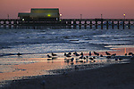 Sunset in Myrtle Beach, S.C., on Saturday, March 7, 2015. <br /> Photo by Cathleen Allison