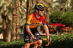 Mark Cavendish (GBR) Bahrain-McLaren before the start of Stage 5 of the Saudi Tour 2020 running 144km from Princess Nourah University to Al Masmak, Saudi Arabia. 8th February 2020. <br /> Picture: ASO/Kåre Dehlie Thorstad   Cyclefile<br /> All photos usage must carry mandatory copyright credit (© Cyclefile   ASO/Kåre Dehlie Thorstad)