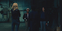 Widows (2018)<br /> L-R: Elizabeth Debicki (back to camera), Cynthia Erivo, Viola Davis (back to camera), and Michelle Rodriguez<br /> *Filmstill - Editorial Use Only*<br /> CAP/MFS<br /> Image supplied by Capital Pictures
