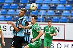 05.08.2019, Carl-Benz-Stadion, Mannheim, GER, 3. Liga, SV Waldhof Mannheim vs. TSV 1860 Muenchen, <br /> <br /> DFL REGULATIONS PROHIBIT ANY USE OF PHOTOGRAPHS AS IMAGE SEQUENCES AND/OR QUASI-VIDEO.<br /> <br /> im Bild: Maurice Deville (SV Waldhof Mannheim #14) gegen Philipp Steinhart (TSV 1860 Muenchen #36)<br /> <br /> Foto © nordphoto / Fabisch