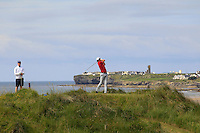 Robert Canon (Balbriggan) on the 12th tee green during Round 3 of The South of Ireland in Lahinch Golf Club on Monday 28th July 2014.<br /> Picture:  Thos Caffrey / www.golffile.ie