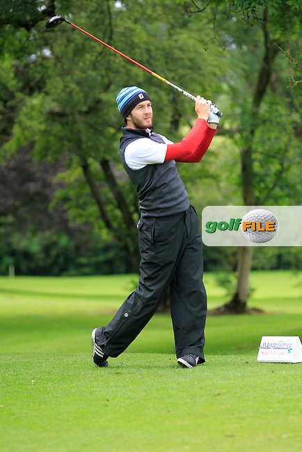 Gerard Dunne (Co. Louth) on the 3rd tee during round 1 of The Mullingar Scratch Cup in Mullingar Golf Club on Sunday 3rd August 2014.<br /> Picture:  Thos Caffrey / www.golffile.ie