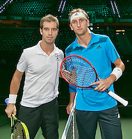 12-02-14, Netherlands,Rotterdam,Ahoy, ABNAMROWTT, Richard Gasquet(FRA) and Thiemo de Bakker(NED)<br /> Photo:Tennisimages/Henk Koster