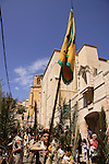 Israel, Lower Galilee, the Greek Catholic Palm Sunday procession in Nazareth