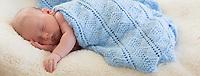 Sleeping Baby On White Background