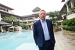 Tennis Legend Boris Becker pose for a photograph at Mission Hills Resort on 19 March 2016, in Shenzhen, China. Photo by Lucas Schifres / Power Sport Images