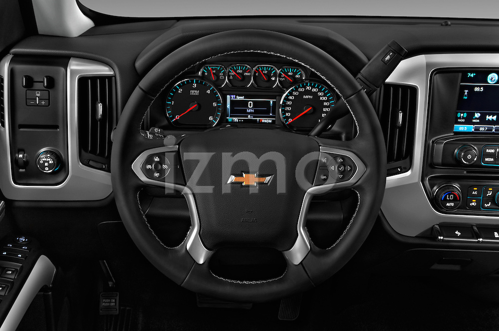 Car pictures of steering wheel view of a 2016 Chevrolet Silverado-3500HD LT-Crew-SRW 4 Door Pickup Steering Wheel