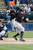 June 8, 2008: Fresno Grizzlies' Nate Schierholtz at-bat during a Pacific Coast League game against the Tacoma Rainiers at Cheney Stadium in Tacoma, Washington.