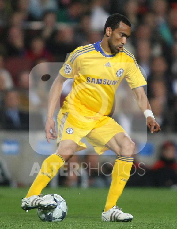 Chelsea's Jose Bosingwa during the UEFA Champions League match.April 28 2009. (ALTERPHOTOS/Acero).