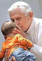 Pope Benedict XVI during his weekly general audience in St. Peter square at the Vatican, Wednesday.23 Mayl, 2012