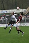 Sandhausen 19.04.2008, J&uuml;rgen Schmid (SV Sandhausen) und Markus Karl (Ingolstadt) in der Regionalliga S&uuml;d 2007/08 SV Sandhausen 1916 - FC Ingolstadt 04<br /> <br /> Foto &copy; Rhein-Neckar-Picture *** Foto ist honorarpflichtig! *** Auf Anfrage in h&ouml;herer Qualit&auml;t/Aufl&ouml;sung. Belegexemplar erbeten.
