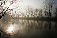 Sunrise and fog on North Fork of Holston River