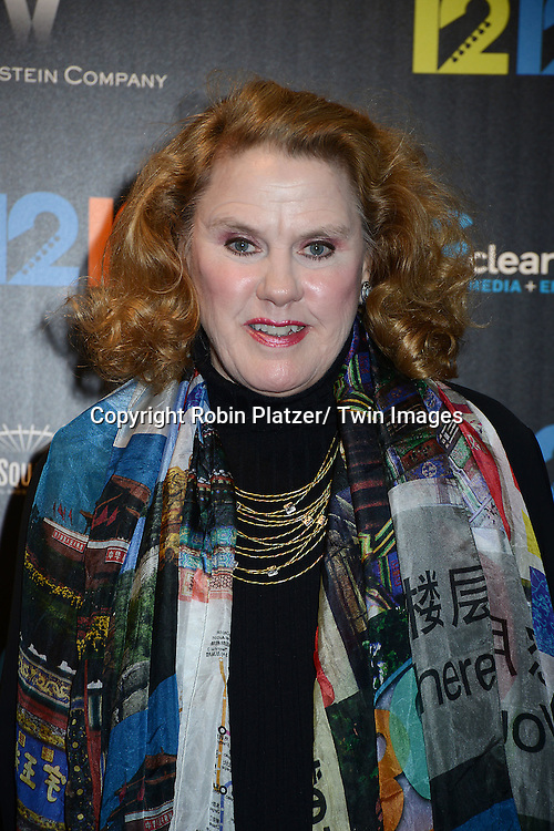 "Celia Weston attends the New York Premiere of ""12-12-12"" on November 8, 2013 at the Ziegfeld Theatrein New York City."