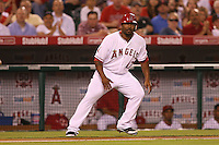 08/16/11 Anaheim, CA: Los Angeles Angels second baseman Howard Kendrick #47 during an MLB game played between the Texas Rangers and the Los Angeles Angels at Angel Stadium. The Rangers defeated the Angels 7-3.