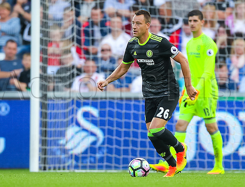 11.09.2016. Liberty Stadium, Swansea, Wales. Premier League Football. Swansea versus Chelsea. Chelsea's John Terry (captain) in action during the match