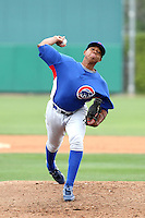 Alvido Jimenez of the Chicago Cubs participates in intrasquad spring training games at the Cubs complex on March 21, 2011  in Mesa, Arizona. .Photo by:  Bill Mitchell/Four Seam Images.